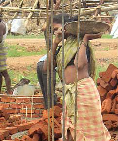 The Buchiraju home under construction