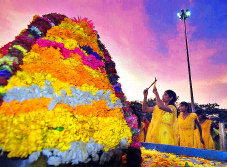 Bathukamma finale in Hyderabad (K Ramesh Babu)